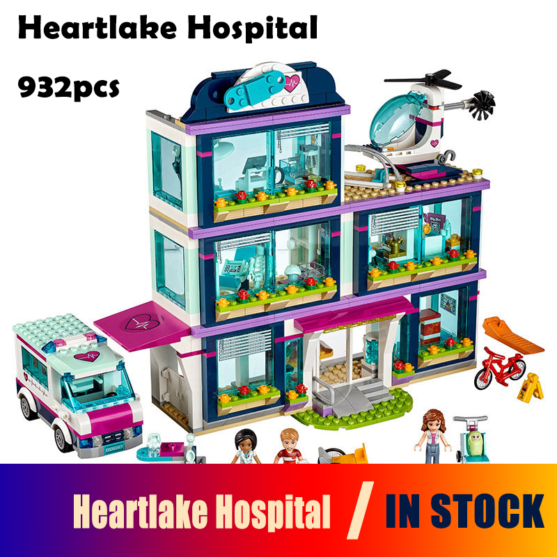 Models building blocks toy 01039 friends Girls Heartlake Hospital kids Bricks diy toy set girl gifts Compatible with Lego 41318 10496 girl friends heartlake city park cupcake cafe building blocks sets kids education bricks toys gift compatible with legoe