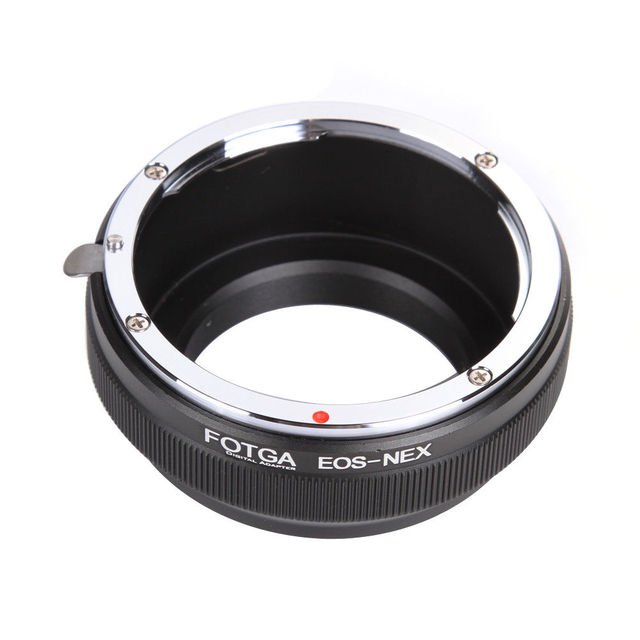 FOTGA Adapter Ring Camera Rings for Canon EOS EF Lens to Sony E Mount NEX-3 NEX-7 6 5N A7R II III A6300 A6500 1