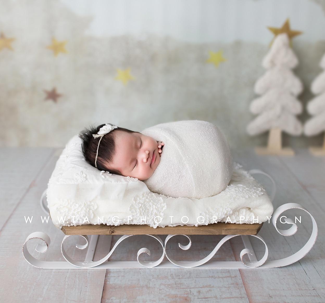 Accessoires de photographie pour nouveau-nés | Accessoires créatifs pour baby photo, chariot pour nouveaux-nés, petits accessoires de lit, studio photo