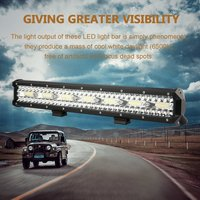 20inch LED Light Bar Triple Row Flood Combo Work Driving 12V 24V 4x4 WD Truck for JEEP SUV Mining Boating Marine Deck Light
