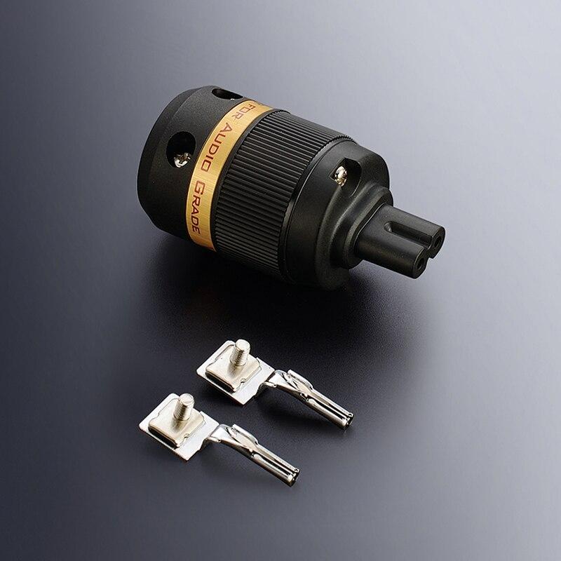 Livraison gratuite Viborg One pieces VF508S pur cuivre argent plaqué AC cordon Figure 8 IEC C7 prise pour câble d'alimentation audio
