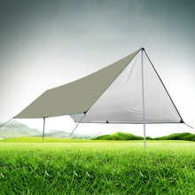 Сверхлегкий брезент Открытый водонепроницаемый покрытие тент палатка выживания укрытие серебро кемпинг беседка солнце пляж