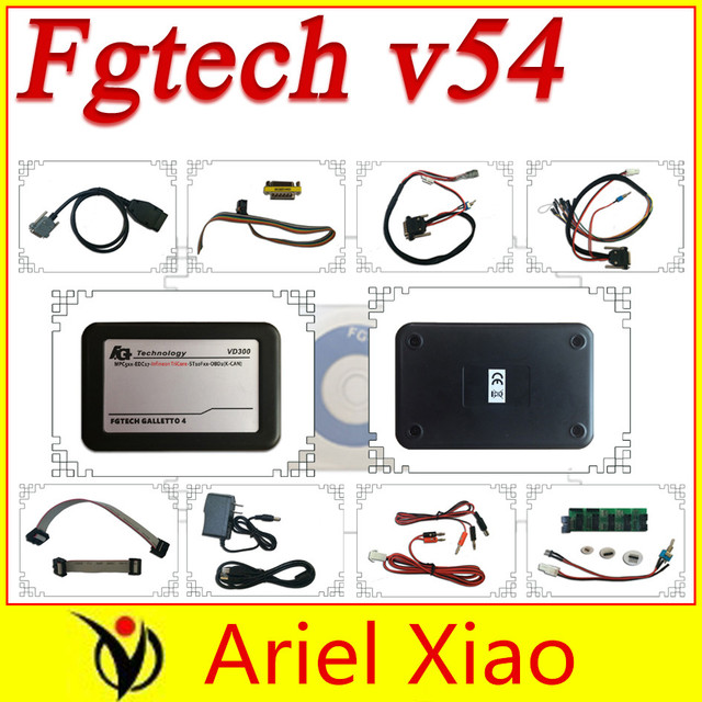 New vd300 V54 fg tech fgtech galletto 4 Master v54 FG Tech no time limited BDM-TriCore-OBD with BDM function free shipping