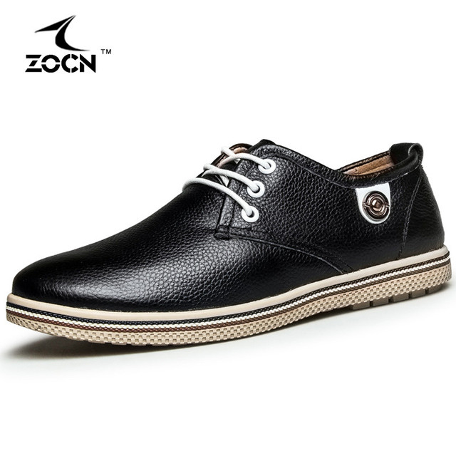 Spring Autumn Men Flats Shoes Full Grain Leather Shoes Mens Boots Black Mens Shoes Luxury Brand Zapatos Hombre Sapatos Masculino