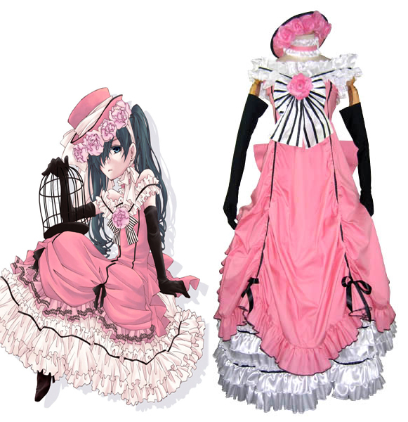 f97bebad2 Buy ciel phantomhive pink dress cosplay and get free shipping on  AliExpress.com