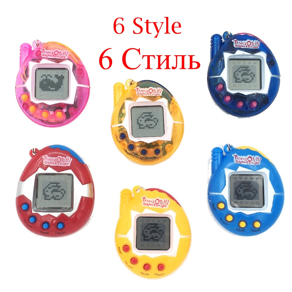 Hot ! Tamagotchi Electronic Pets Toys 90S Nostalgic 49 Pets in One Virtual Cyber Pet Toy  6 Style Tamagochi купить недорого в Москве