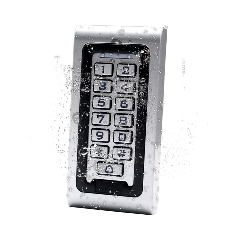 125KHz Metal RFID Waterproof Access Control ID Card Reader Keypad with 10pcs Key Fob waterproof touch keypad card reader for rfid access control system card reader with wg26 for home security f1688a