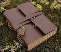 Free Shipping High Quality Genuine Leather Vintage Notebook Notepad Travel Journal Diary Book Creative Gift Handmade