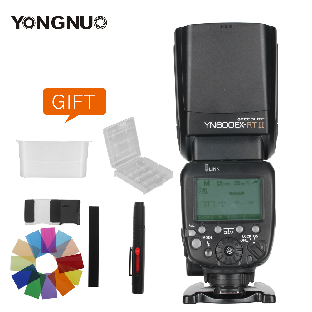 YONGNUO YN600EX RT II 2.4G sans fil HSS 1/8000 s Master Flash Speedlite pour appareil photo Canon as 600EX RT YN600EX RT II + KIT cadeau-in Clignote from Electronique    1
