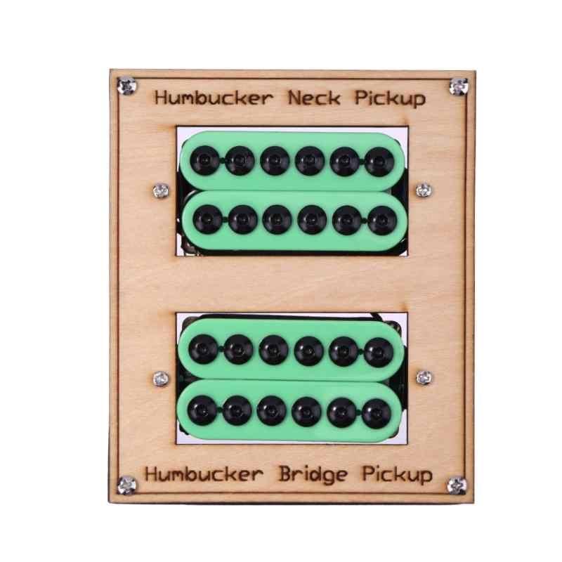 2pcs/box Green Ceramic Magnet Electric Guitar Humbucker Pickups for Gibson  Les Paul SG