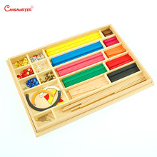 Math Games and Toys Geometry Sticks With Board Montessori Number Wood Educational Toy Develop Brain Teaser MA182-3