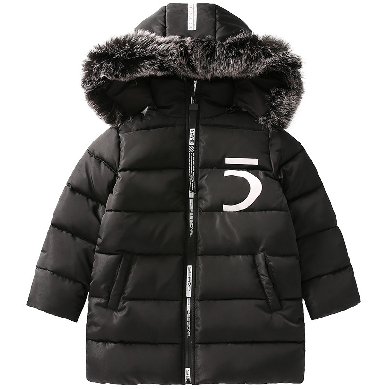 Boys Winter Down Coat Children Clothing Warm Jackets Coats Kids Thick Cotton Casual Fur Hooded Outerwear 4 6 8 10 12 13 14 Years kids clothes children jackets for boys girls winter white duck down jacket coats thick warm clothing kids hooded parkas coat