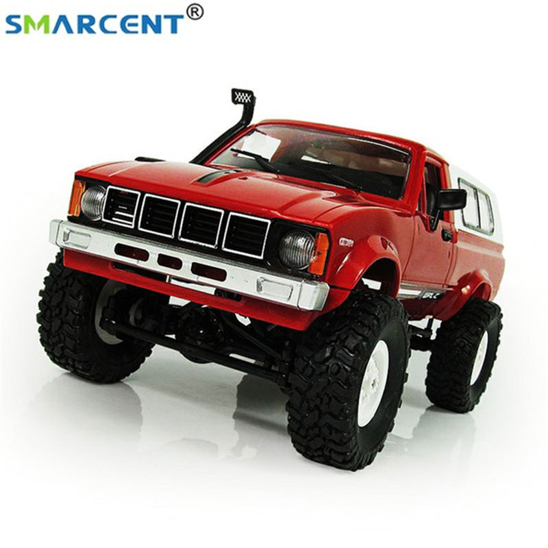 WPL C24 Smart Remote Control Car RC Crawler Off-road Car Buggy 1:16 RTR Car 2.4G Battery Powered Car Toys For Children kulak 4x4 1 18th rtr electric powered off road crawler 94680