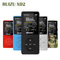 Original RUIZU X02 Hifi APE/FLAC/WAV MP3 Player 8GB 1.8'' Screen 80 hours Play Time Sport Music Mp3 Player FM Recorder E-Book