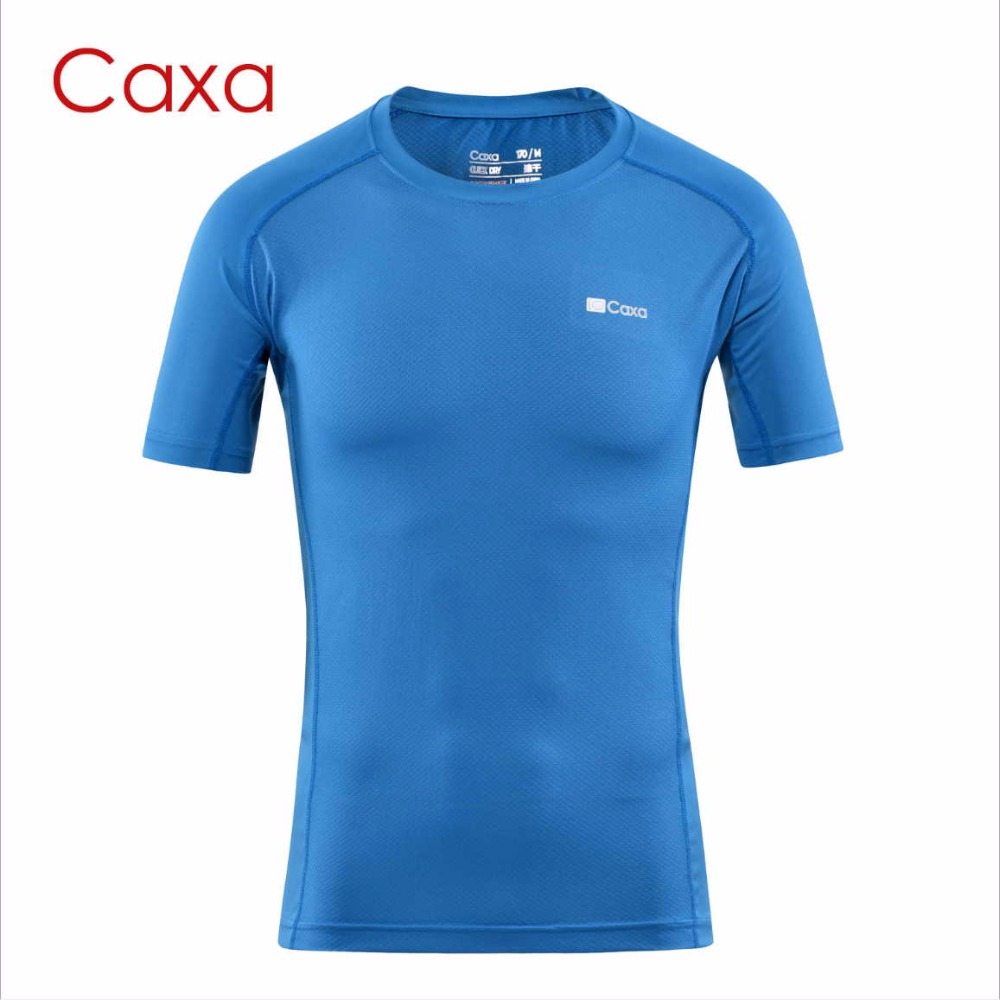 Caxa Mens Quick Dry Sport T shirt Anti Sweat Soft Gym Fitness Shirt Sunscreen Outdoor Sport Running T shirt bodybuilding Tops ...