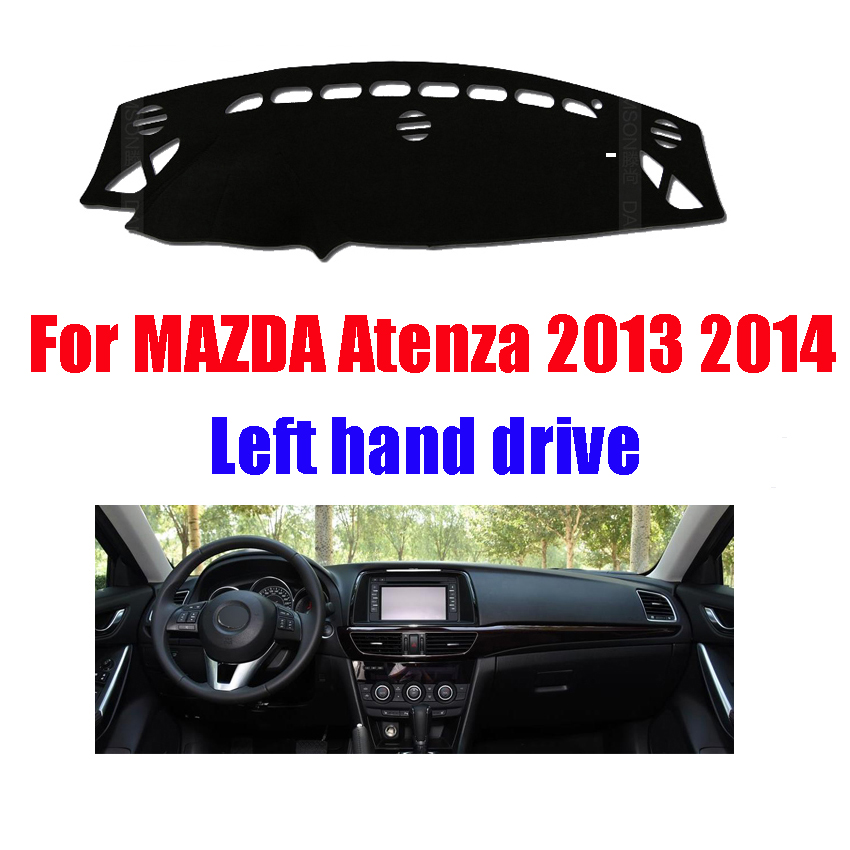 Color Name: Black for Mazda 6 3th ATENZA Dashboard mat Protective pad Dash mat Cover Photophobism Pad Cover car Styling Accessories 2013-2014 Dash Covers & Pads