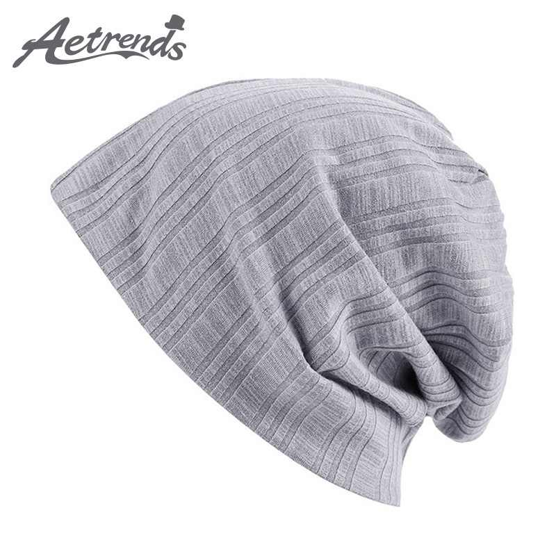 [AETRENDS] 2017 Fashion Autumn Winter Hats for Men Skullies Beanies Bonnet Hat Hip Hop Beanie Caps Z-0396 new fashion women autumn hat caps for girl rivet knit beanie skullies colors men casual hip hop hats adult winter bonnet shop