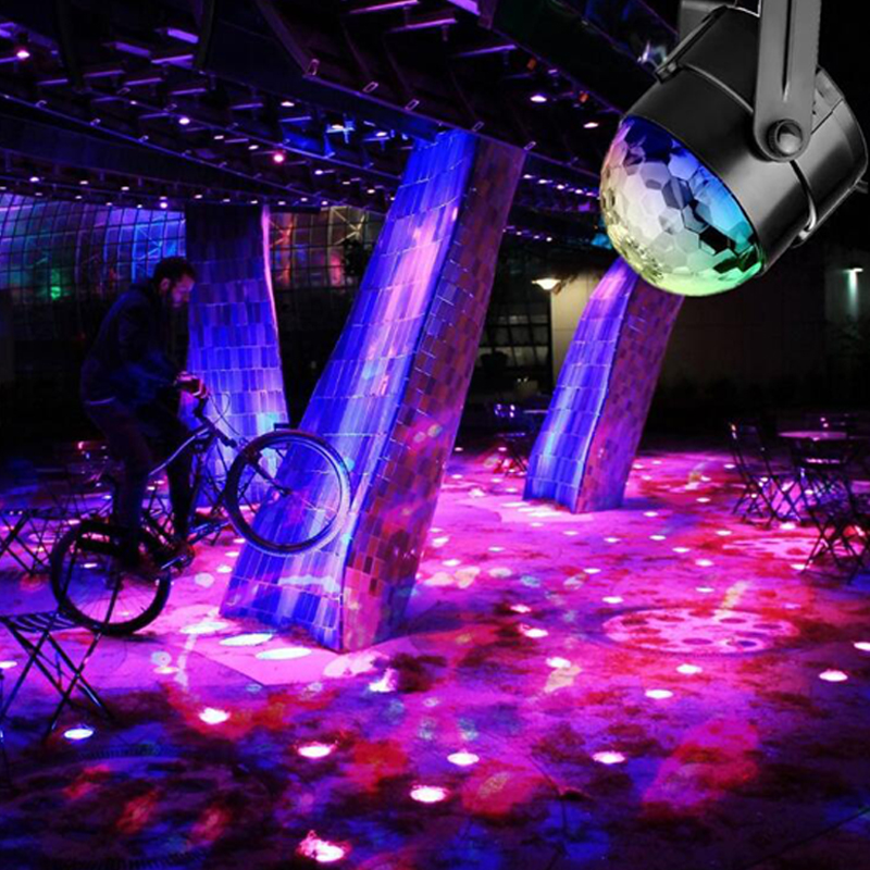 3W Mini RGB Crystal Magic Ball Sound Activated Disco Ball Stage Lamp Lumiere Christmas Laser Projector Dj Club Party Light Show (7)
