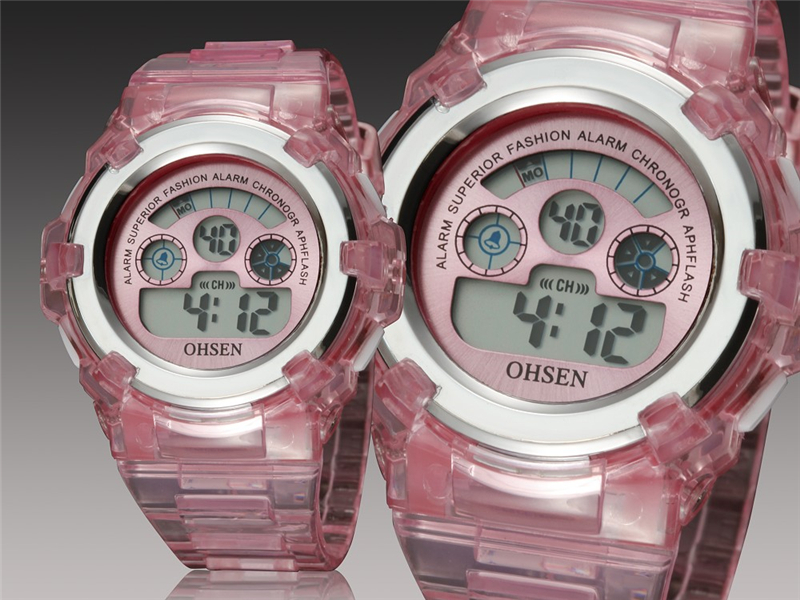 OHSEN Kids Watches Children Digital LED Fashion Sport Watch Cute Boys Girls Wrist watch Waterproof Gift Watch Alarm Kids Clock (10)