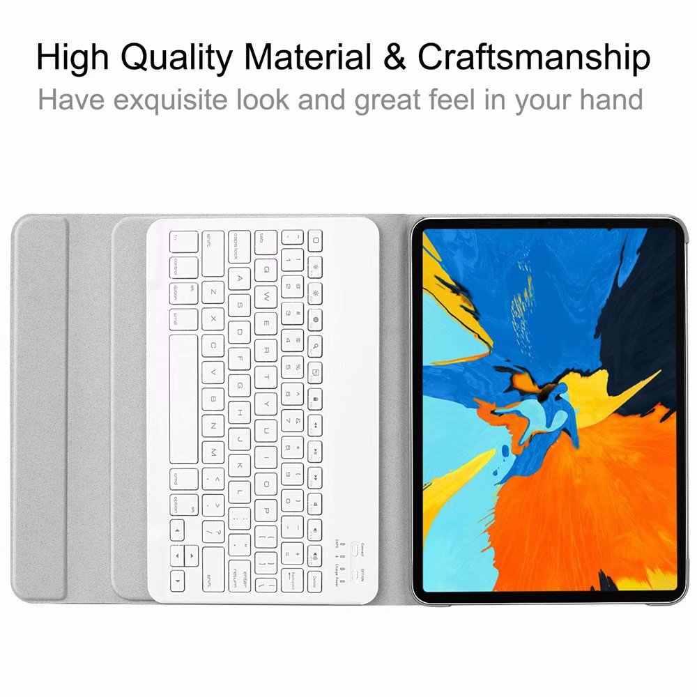 Funda inteligente para iPad Pro 11 pulgadas 2018 Funda de cuero con tapa para iPad Pro 11 2018 teclado inalámbrico Bluetooth funda + pluma