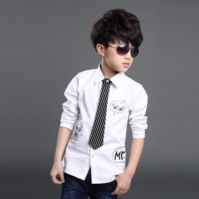 2016 Newest Style children boys shirts white color with