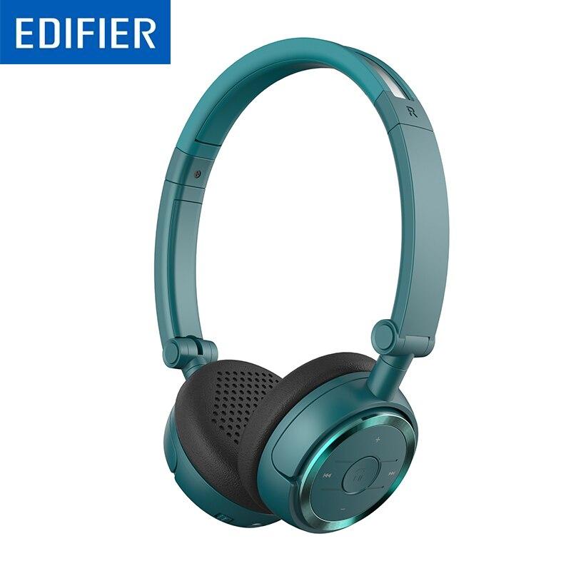 Edifier w675bt bluetooth fones de ouvido de alta fidelidade on-ear redução de ruído automático bluetooth 4.1 fone de ouvido com microfone nfc modelo duplo