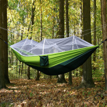 2 Person Outdoor Mosquito Net Parachute Hammock Camping Hanging Sleeping Bed Swing Portable Double Chair Hamac Army Green недорого