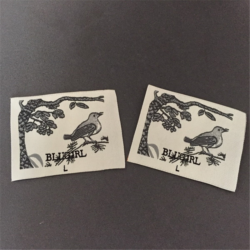 Custom clothing tags cotton tape printing label clothing printed labels tags garment labels in Garment Labels from Home Garden