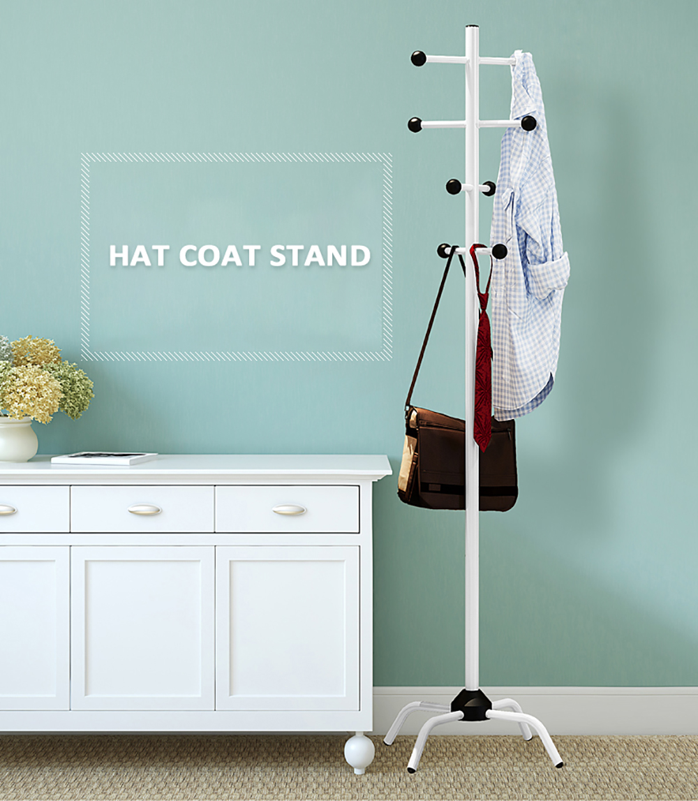 Adult Coat Rack Clothes Tree Hat Hanger Hallstand Clothes Hat Tree Racks With 8 Movable Hooks For Bedroom Living Room BalconyAdult Coat Rack Clothes Tree Hat Hanger Hallstand Clothes Hat Tree Racks With 8 Movable Hooks For Bedroom Living Room Balcony