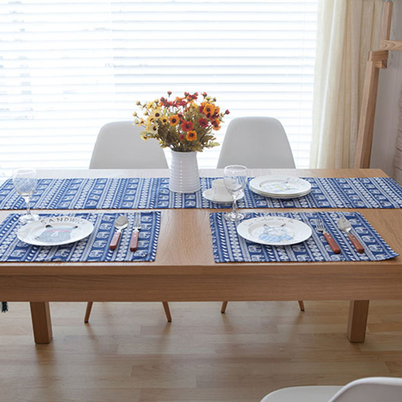 Original Design Southeast Asian Table Runner American Luxury Table Runners  Blue Small Dining Table Runners Flag Bed Tafelloper In Table Runners From  Home ...