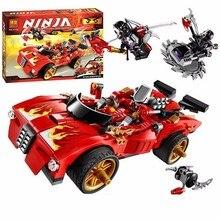 9796 النينجا مبارزة Ninjutsu سباق شاحنة الطوب لعبة النينجا الاطفال ألعاب تعليمية للأطفال قوالب بناء