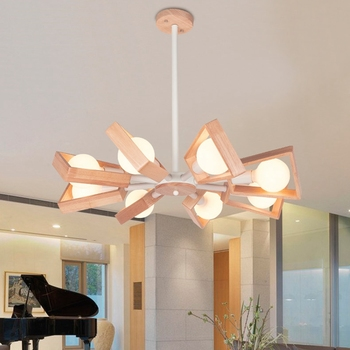 Yellow Pendant Light | LukLoy Modern Pendant Lamp Lights Kitchen Island Dining Living Room Decoration Low Ceiling Branch Wood Lighting Fixture