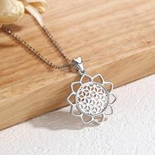 Eudora Sterling Silver Flower Of life Pendant Neckalce Charm Jewelry For Women Angel Caller 925 Jewelrys CYD420