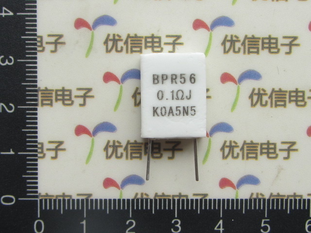 Free Shipping 10pcs 0.1R 5W Non-inductive Resistor BPR56 0.1Ohm 5% 0.1R Cement Resistor