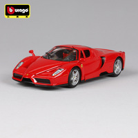 Bburago 1:24 Diecast Metal sports car model toy For Ferrariedal Enzo Collection Car Steering wheel control with Original Box