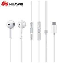 HUAWEI Eerbuds TIPO C Fone de Ouvido USB + Controle de Volume do Microfone do Fone de ouvido Para O Companheiro Companheiro 10 10 Pro P20 P20 Pro