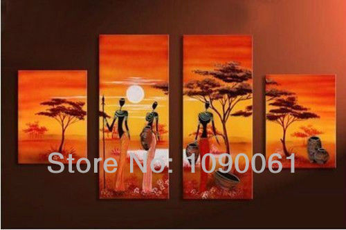 African American Home Decor african american home decor for cool home 1161 new house african home decor african home decor Aliexpress Hand 4pc Modern Abstract Orange Color Oil