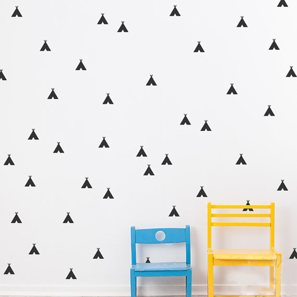 Vy001 Geometric Patterns Kids Room Small Tent Wall Sticker Home Decor Vinyl Wall Decal Nursery Room Decor Stickers
