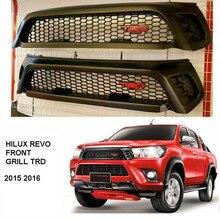 2015-2017 HILUX REVO TRD GRILL PICKUP TRUCK FRONT GRILL HILUX REVO SR5 M70 M80 2015-16 TRD STIL RAPTOR GRILL MATT SCHWARZ