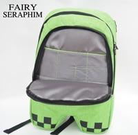 New Hot Sell Minecraft Backpack High Quality Unisex Children Mochilas School Bag Bolsas Boy Girls Canvas
