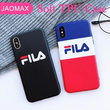 Jaomax Simple Italy Sports Brand Phone Case for iPhone X XS MAX XR 8 7 Plus 6 6S Plus Soft Silicone Coque Black TPU Logo Cover