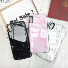 3000mah marble charger case for iphone 6 6s 7 8 external portable wireless charging cover luxury 2 in 1