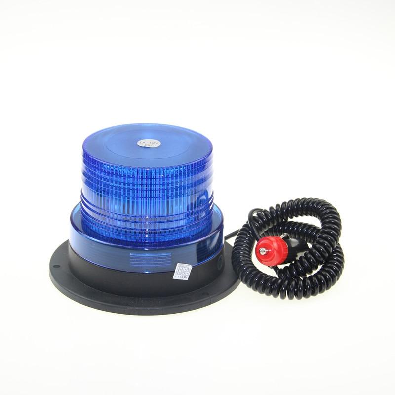 12V/24V LED Blue Color Car Vehicle Police Warning Light Flashing Beacon LED Strobe Emergency Lighting Lamp With Magnetic Mounted