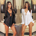 Erotic Sexy Lingerie Lady Chiffon Three Point perspective Nightdress sexy night wear gown Plus Size Lingerie Pajama Suit