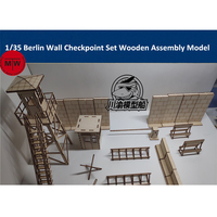 1/35 Scale Berlin Wall Checkpoint Set Tank Scene Diorama DIY Wooden Assembly Model Kit CYH012