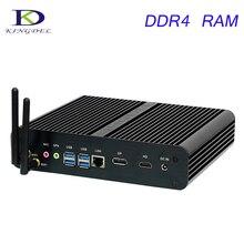 Мощный безвентиляторный Мини-ПК, Barebone ПК, HTPC, Intel 7TH Gen kaby Lake Core i7 7500U Поддержка 3D игры DP + HDMI Порты и разъёмы, Настольный ПК