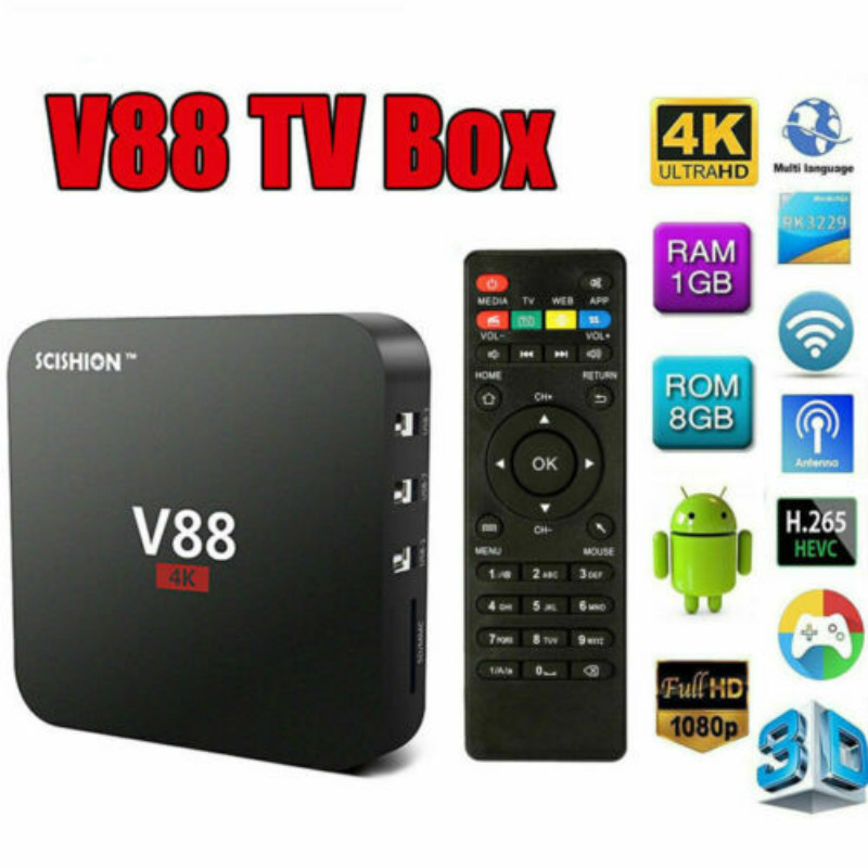 Systematic Scishion V88 Pro 4k Android 7.1 Tv Box Rk3229 Quad Core 2gb+16gb Wifi Usb Media Utmost In Convenience Home Audio & Video Consumer Electronics