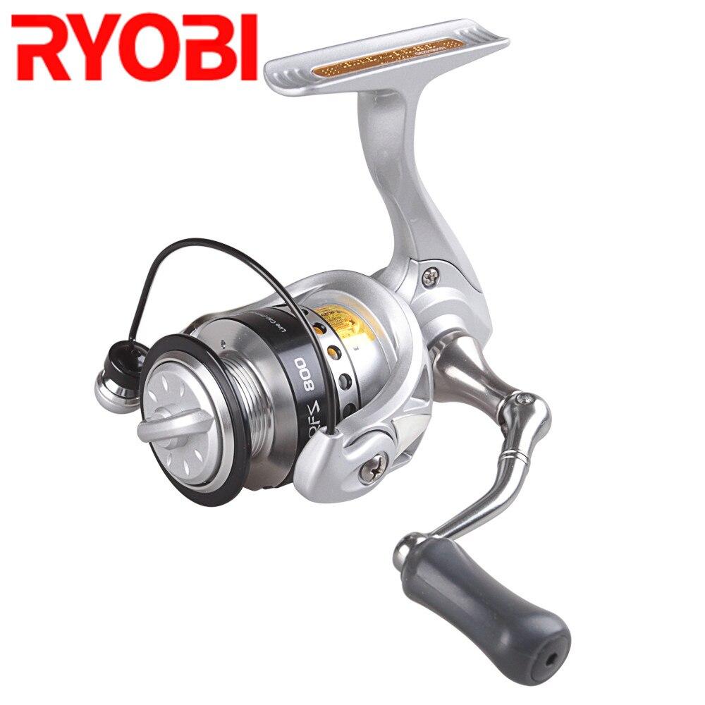 RYOBI Spinning Angeln Reel 500/800 Serie 3 + 1BB/5,2: 1/3 kg Lenkrad Feeder Carretes Carretilha De Pesca Moulinet Peche