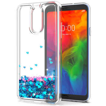 For LG Q7/Q7+ Plus/Q7 Alpha Case Dynamic Quicksand Liquid Case For