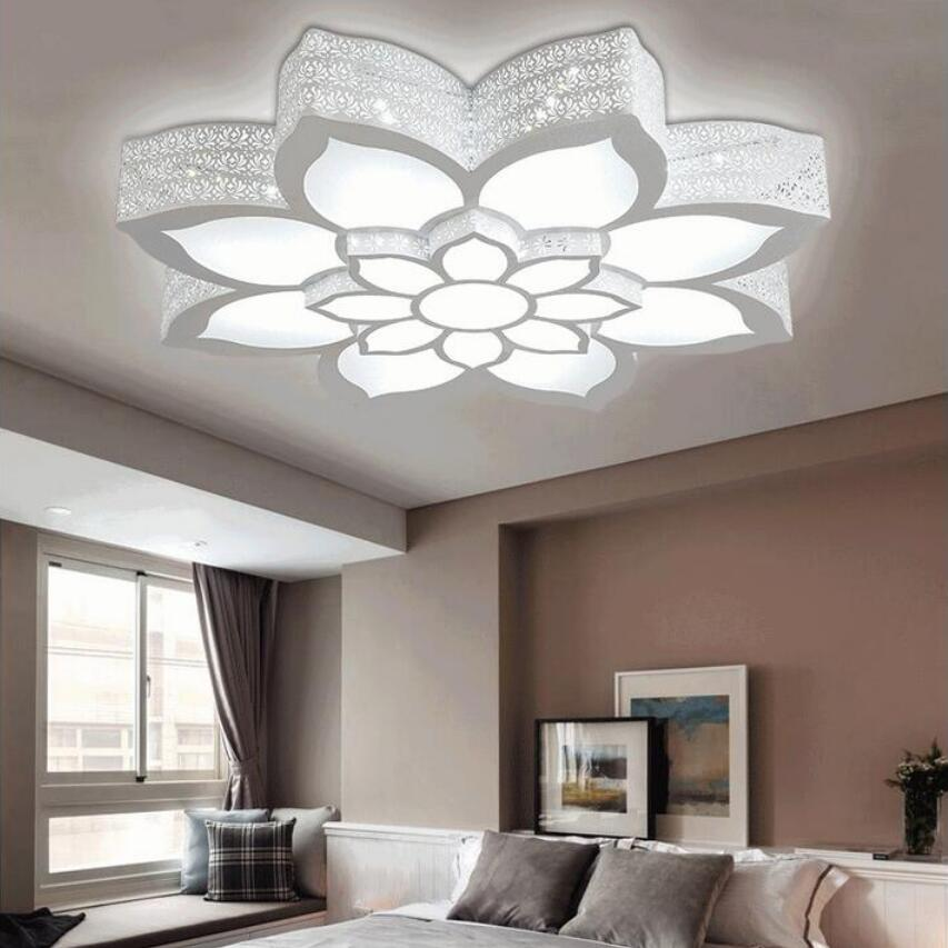 NEW Fashion Lotus Led Chandeliers Led Lamps High Power Led Acrylic Living  Room Chandelier Led Lustre Lighting Chandeliers In Chandeliers From Lights  ...
